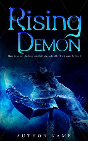 Horror-book-cover-rising-spooky-demon
