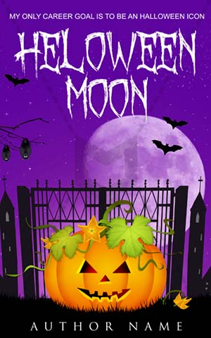 Horror Book Cover Haunted Pumpkin Night Halloween