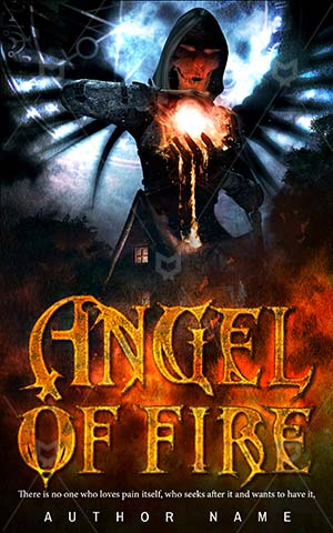 Horror-book-cover-Angel-Scary-Fire-dark-tumblr-Illustration-Fantasy-Night-Flame-Cottage-Magic-Artwork-Gothic-Blaze-Spell