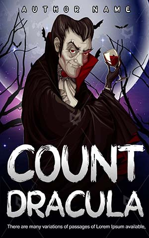 Horror-book-cover-Count-Dracula-Red-Vector-Illustration-Blood-Halloween-stories-Vampires-Scary