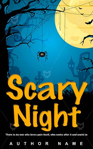 Horror-book-cover-Halloween-Night-Blue-Vector-Nightmares-Dark-Moon-Evil-Scary-Spooky-covers