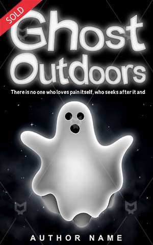 Horror-book-cover-Outdoors-Ghost-Fun-White-design-Vector-Dark-Silhouette-Halloween-Costume-Fear-Spooky