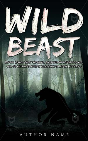 Horror-book-cover-Scary-Dark-Monster-Werewolves-Forest-Mysterious-Dangerous-Wolf-Danger-covers-Illustration-Moonlight