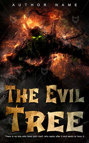 Horror-book-cover-Scary-Evil-Tree-Fantasy-tree-man-Colorful-Illustration-Man-Dark-Fog-Forest-Fairy-tale-Monster-Shrub