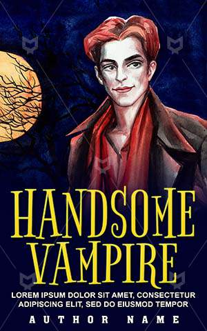 Horror-book-cover-Scary-Vampire-Handsome-Halloween-Night-Danger-Moon-Zombie-Creepy-Fear-Illustrator