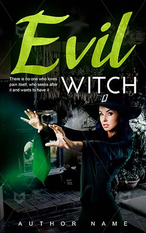 Horror-book-cover-Witch-Halloween-girl-The-witches-Evil-Woman-Black-story-Fairy