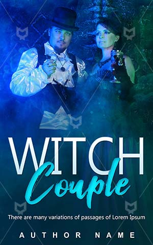 Horror-book-cover-Woman-Magic-Forecast-Witch-Halloween-Feelings-Magician-Couple-Romantic-design-Wizard