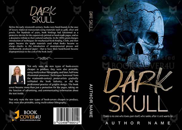 Horror Book cover Design - Dark Skull