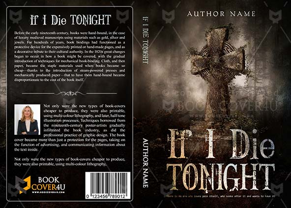 Horror Book cover Design - If I Die Tonight