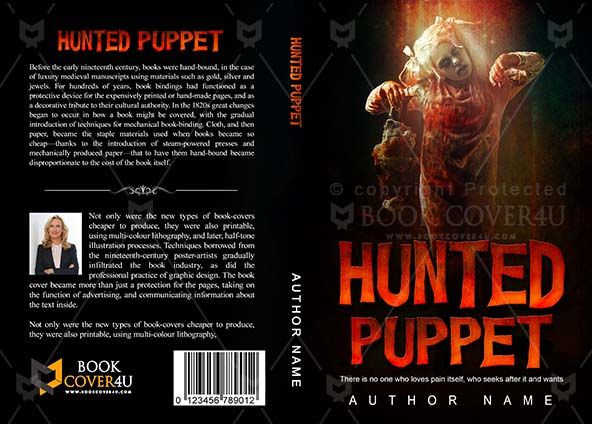 Horror Book cover Design - Hunted Puppet