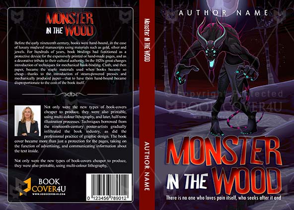 Horror Book cover Design - Monster In The Wood