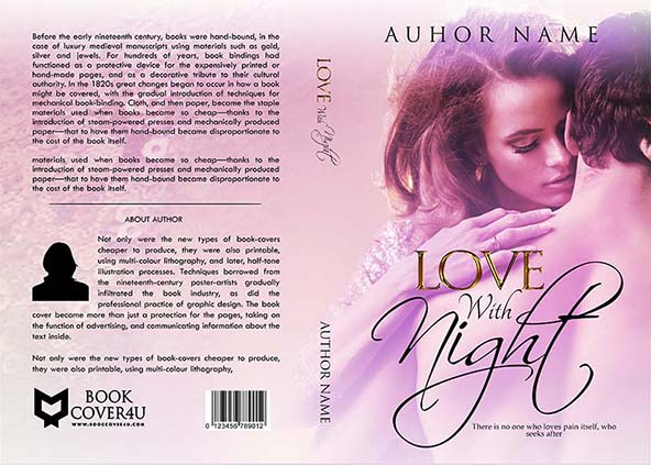 Love Story Book Cover Design ~ Romance book cover design love with night