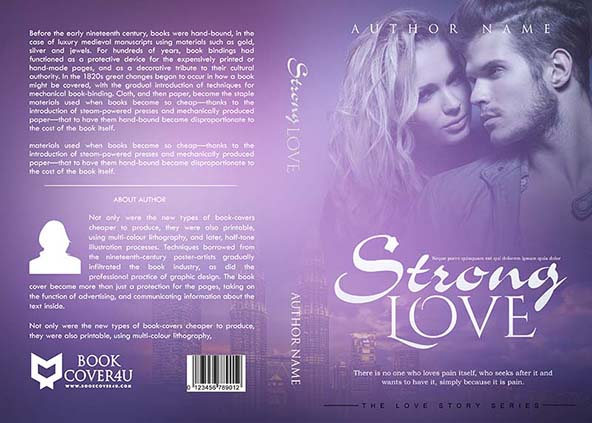 Love Story Book Cover Design : Romance book cover design strong love