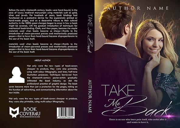 Romance Novel Book Cover Designers : Romance book cover design tack me back