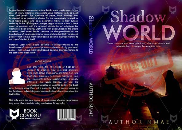Kindle Book Cover Design Service : Fantasy book cover design shadow world