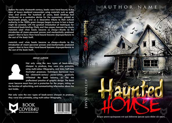 Horror Book cover Design - Haunted House
