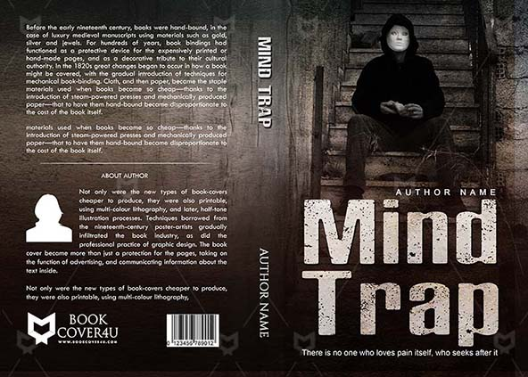 horror book cover design mind trap