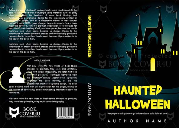 Horror Book cover Design - Haunted Halloween