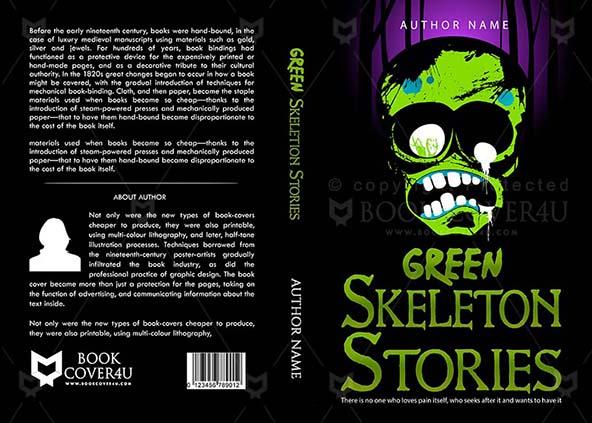 Horror Book cover Design - Green Skeleton
