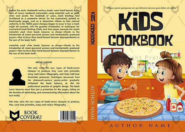 Kids Cookbook Cover ~ Children book cover design kids cookbook