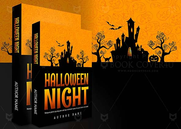 ... Children Book Cover Design Halloween Night Back