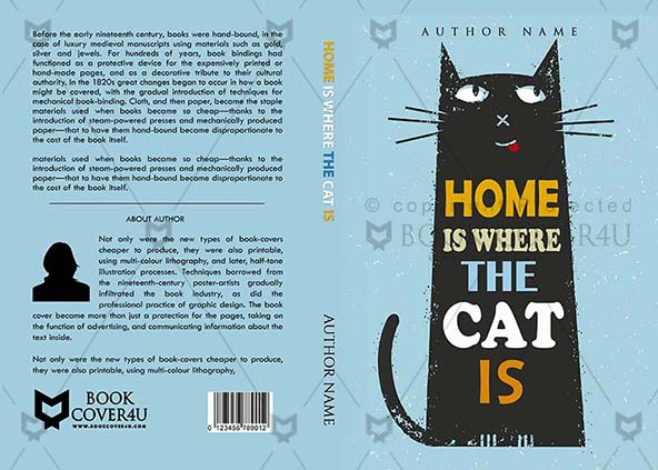 Kindle Book Cover Design Service : Children book cover design home is where the cat