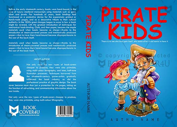 Children Book cover Design - Pirate Kids