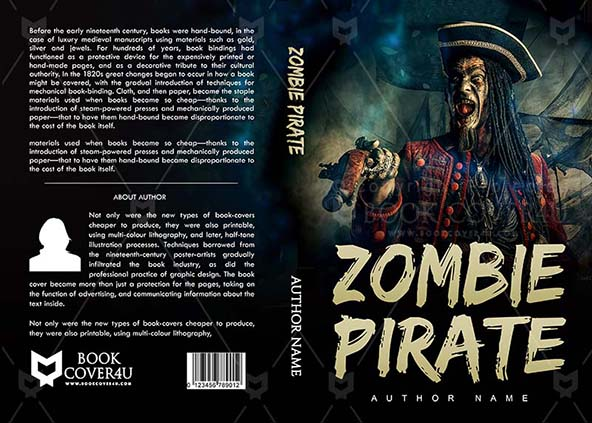 Horror Book cover Design - Zombie Pirate