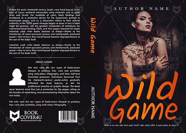image regarding Printable Game Covers known as Thrillers Reserve deal with Design and style - Wild Recreation