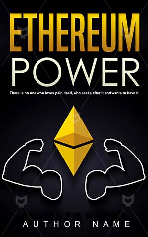 Nonfiction-book-cover-Business-Power-Ethereum-books-covers-Market-Vector-Money-Currency-Economy