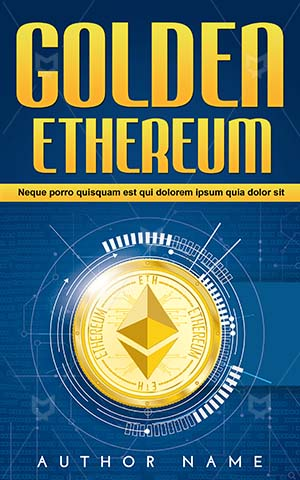 Nonfiction-book-cover-Gold-Golden-Block-chain-Money-design-Coin-Vector-Stock-Finance-Non-fiction-Bank-Cash
