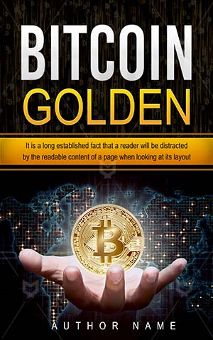 Nonfiction-book-cover-Money-Business-Golden-design-Technology-Hand-Economy-Coin-Gold-Premade-non-fiction-covers-Bitcoin