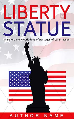 Nonfiction-book-cover-Statue-Liberty-Non-fiction-covers-City-Culture-American-Usa-Landmark-Sculpture-July-America-Freedom-Silhouette-Symbol