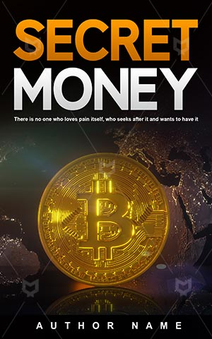 Nonfiction-book-cover-Virtual-money-Secret-Best-nonfiction-covers-Bit-coin-Money-Illustration-Business-design-Symbol-Market