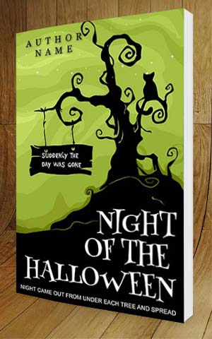 ... Horror Book Cover Design Night Of The Halloween 3D