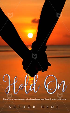 Romance-book-cover-Couple-Sunset-in-the-beach-Holding-hands-Romantic-couple-holding-silhouette