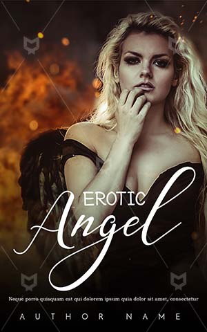Romance-book-cover-Fire-Angel-Book-Covers-Premade-Fantasy-Woman-Fallen-Cover-Design-Black-Frock