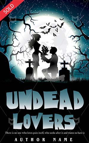 Romance-book-cover-Love-Moon-Moonlight-Couple-Valentine-Scary-Halloween-Undead-Illustration-Dead-Two-Dark-night-romance