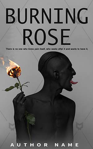 Romance-book-cover-Men-Burning-Rose-ebook-design-Black-Death-Halloween-Love-Beauty-Flower-covers-Vampire-Undead
