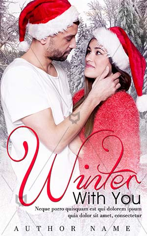 Romance-book-cover-Red-Young-Couple-Romantic-story-Closeness-Together-Happy-for-Christmas-Attractive