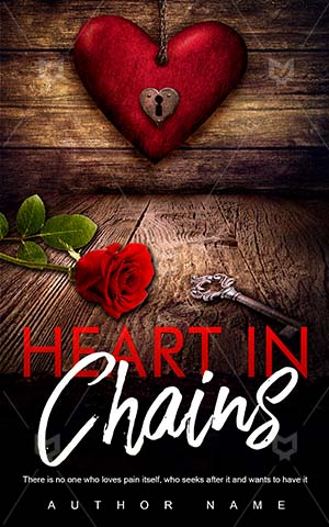 Romance-book-cover-Heart-Chain-Book-covers-with-hearts-Valentine-Sign-Chains-Table-Red-romance-Happy-Holiday-Love-Retro
