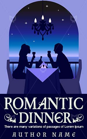 Romance-book-cover-Romantic-Premade-covers-romance-Date-Dinner-dinner-party-Restaurant-Drink-Eating-Love-Illustration-Night