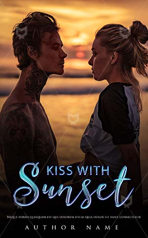 Romance-book-cover-Spend-time-on-Beach-Sea-Couple-Kiss-Sunset-Outdoor-Book-Covers-Attractive