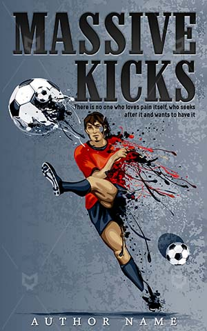 Sports-book-cover-Massive-Football-Kicks-design-Ball-Player-Foot-Soccer-Shoot-Vector-Boy-Boots-Speed-Fit-Exercise-Sportsman