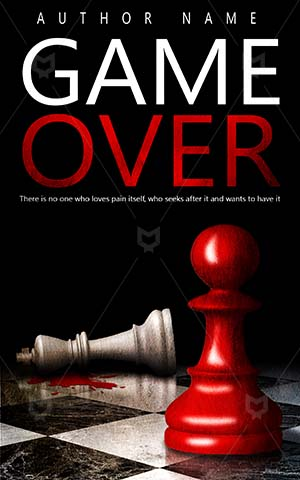 Thrillers-book-cover-Chess-King-Pawn-Murder-Killed-Premade-covers-thriller-Dark-Silhouette-Criminal-Ancient-Champion-Sports-design