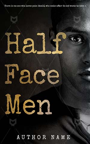 Thrillers-book-cover-Face-Men-Half-One-Man-Black-Sensual-Masculine-Thriller-design-Closeup-Person-Looking-American-Artistic