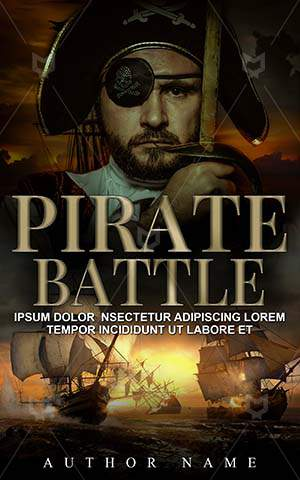Thrillers-book-cover-Handsome-Thriller-Pirate-Ship-Halloween-Vintage-Medieval-Man-Battle-Danger