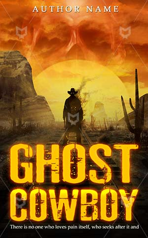 Thrillers-book-cover-Illustration-Cowboy-Ghost-Vintage-covers-Western-West-Adventure-Desert-Horror-design-Dead-Outlaw