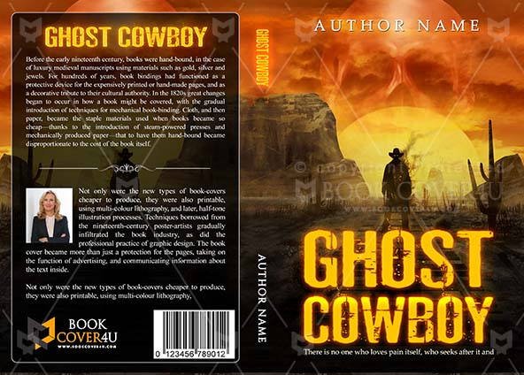 Thrillers Book cover Design - Ghost Cowboy